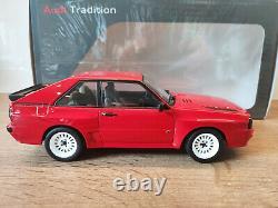 118 Norev Audi Sport Quattro Court Rouge Rouge Limited Edition 500 Pièces Nouveau