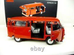 118 Schuco Vw T2 T2a Bus Rot Limited Edition 500 Pièces 450019600 Nouveau