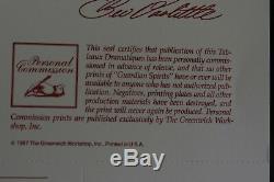 1987 Edition Limitée Bev Doolittle Spirits Gardien # Assorti Ensemble 2 Pièces