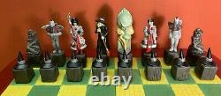 1995 Star Jars Wizard Of Oz Full 32 Pieces Chess Set & Board Ltd Édition 186/300