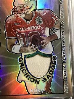 2002 Topps Chrome Tom Brady Gridiron Badges Jersey Refractor /200 Gameworn Psa 8