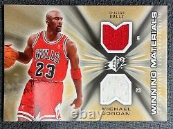 2006-07 Upper Deck Spx Michael Jordan Matériaux Gagnants Dual Jersey Sp Bulls