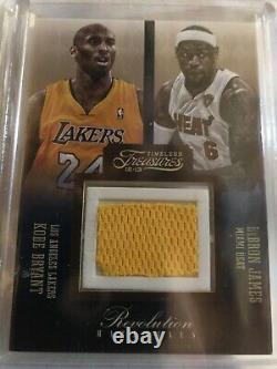 2012-13 Kobe Bryant Lebron James Trésors Intemporels Matériel Du Jeu 7/75
