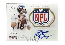 2014 Trésors Nationaux Peyton Manning 1/1 NFL Shield Auto