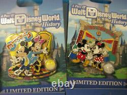 2017 Walt Disney World Piece Of History 9 Pin Set Limited Edition Difficile À Trouver
