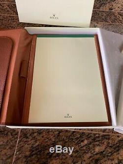 2019 Nouveau 2 Piece Set Rolex En Cuir Brun Pour Ordinateur Portable Et Vert Concessionnaire Bloc-notes En Cuir