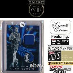 2019 Panini The National Vip Rainbow Portes Jersey Relic Luka Doncic Rc #02/25