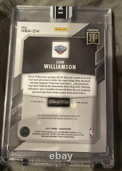 2020-21 Panini Prizm Basketball Zion Williamson 1/1 Un De Un Patch