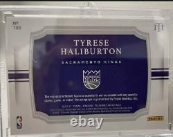 2020-21 Tyrese Haliburton Trésors Nationaux /49 Bronze Rookie Patch Auto Rpa Rc