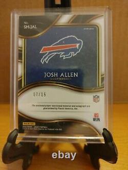 2020 Panini Sélectionner Tie-dye Prizm Josh Allen 4-color Patch Auto /15 Buffalo Bills