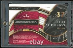 2021 Sélectionner Tyler Stephenson Rpa True 1/1 Gold Vinyl Rc Reds Logo Superfracteur
