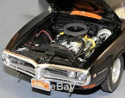 Acme 1/18 1968 Pontiac Firebird Blackbird Ltd Ed 948 Pièces A1805201