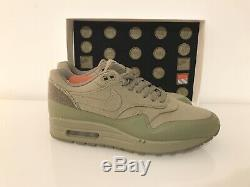 Air Max 1 Patch Kaki Vert Taille 7.5uk Qs Ds Limited Edition Velcro Paquet