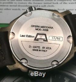 Anonimo Opera Meccana D Date De Bronze Spécial 50 Piece Dernière Édition 2006 Automatique