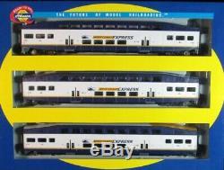 Athearn Echelle Ho 3 Pièce West Coast Express Set (2 Coach, 1 Cab,)