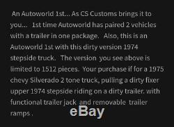Autoworld Exclusive Chris Spangler Personnalisée 2 Pièces Squarebody Set Autographié