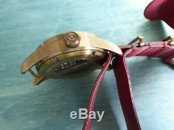 Avi-8 Bronze Flyboy Édition Le 45 MM Automatique Avec Cuir Rouge One Piece + Suede