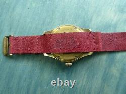 Avi-8 Flyboy Bronze Edition Le 45 MM Automatique W Red Leather One Piece + Suede