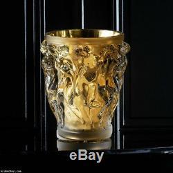 Bacchantes Grand Vase Edition Limitée (90 Pièces) Cristal Clair Avec Feuille Dorée 1