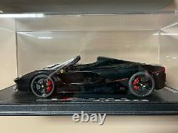 Bbr Modèles 1/18 Ferrari Laferrari Aperta Gloss Noir 1 De 4 Pièces P18135gen20-1