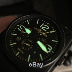 Bell & Ross Br01-94 S Jaune Aviator 46mm Pvd Chrono Édition Limitée 500 Pièces