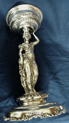 Bol De Mariée Moser 1880 22k Avec Pièce De Musée Sur Support En Argent D'origine Française