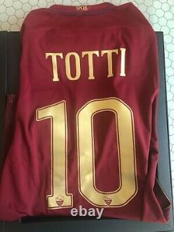 Box Cofanetto Totti Roma Maglia Édition Limitée No Match Porté Patch Spécial