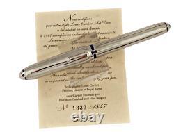 Cartier Louis Cartier Art Déco Platinum Limited Edition Émail Bleu 1847 Pièce