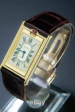 Cartier Paris Réservoir Basculante Mecanique 18k Limitée À 150 Pièces