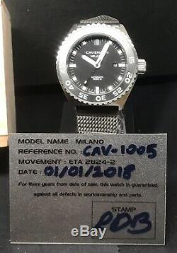 Cavenago Milano 1000m Swiss Automatic 46mm Italian Limited Edition 100 Pièces