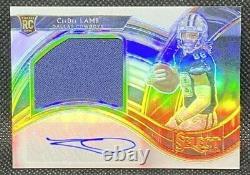 Ceedee Lamb Select Auto/jersey Rpa /75 Silver Prizm Autograph Rc Dallas Cowboys