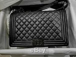 Chanel Sac Noir Caviar Boy Edition Limitée Grand Collectionneur