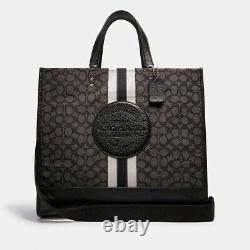 Coach Dempsey Tote 40 Signature Jacquard Logo Patch XL Travel Bag Noir 450 $