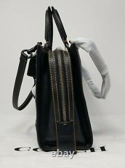 Coach Varsity Patch Rogue Black Pebble Leather Sac Sac Sac 57231 Édition Limitée