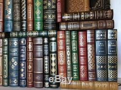 Collection De Livres En Cuir Vintage Des Années 1970, Signée Franklin Library Lot De 85 Pièces