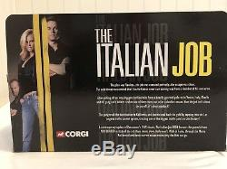 Corgi The Italian Job 3 Pièces Mini Cooper Limited Ed. Ensemble De Collection Rare
