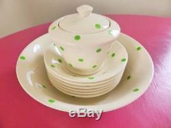Cornishware T. G. Green & Co. Ltd À Pois Serving Set, 8 Pièces, 1930 Vintage