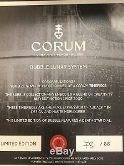 Corum Bubble 47 Death Star Édition Limitée 88 Pièces! Guerres Des Étoiles! Nouveau! Étourdissant
