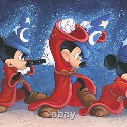 Disney Fine Art St. Laurent The Sorciers Sort Encadré Spell Limited Edition Toile