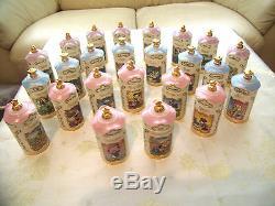 Disney Spice Jar 24 Piece Ensemble Complet Lenox 1995 Belle Pâques, Cadeau D'anniversaire