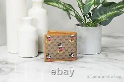Disney X Gucci Leather 2020 Edition Limitée Mickey Mouse Imprimé Portefeuille Bifold