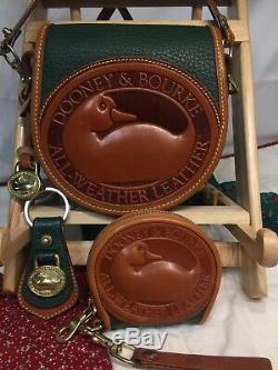 Dooney & Bourke Iconic3 Piece De Duck Vert / Tan Crsbdy Porte-monnaie Kychain