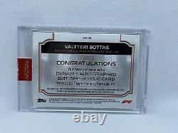 Dynastie Topps 2020 Formule 1 F1 Valtteri Bottas Suit Zipper Relic Auto 4/4
