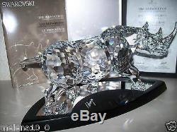 Édition Limitée 2008 Swarovski Rhinocéros 10000 Exemplaires Dans Le Monde Nouveau Sib