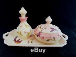 Fenton Burmen Birman Vanity Plateau 3 Piece Set Set 100e Anniversaire