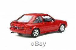 Ford Escort Rs Turbo Mk4 Red 118 Échelle Otto Modèle Grande Piece Collectionneurs Ot826