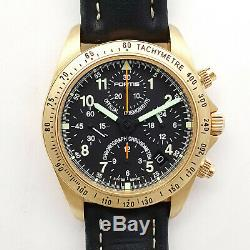 Fortis Cosmonautes Gold Chronograph Gmt Limited Edition No 099 / Only100pieces