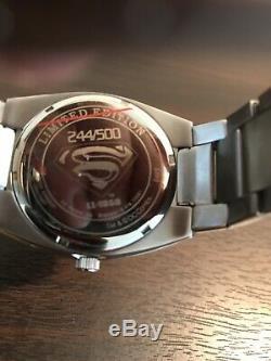 Fossil Superman Returns Watch (# Ll1050) Htf Limitée À 500 Pièces Cib