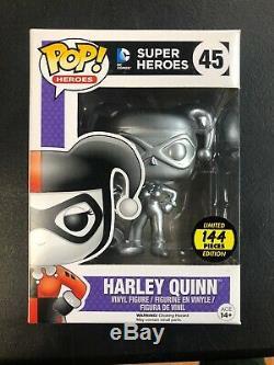 Funko Pop Harley Quinn Argent Super Rare Édition Limitée 144 Pièces