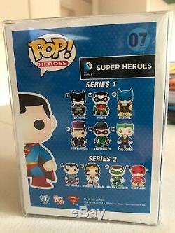Funko Pop Heroes DC Superman Argent Chrome 07 Édition Limitée 144 Pièces En Vinyle